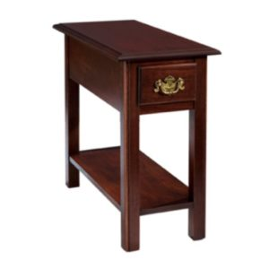 Queen Anne : Chairside Table With Drawer & Shelf