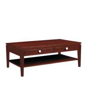 Urban Expressions: Rectangular Coffee Table With Drawer & Shelf