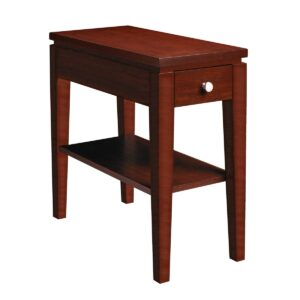 Urban Expressions: Chairside Table With Drawer & Shelf