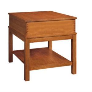 Wyndham: Rectangular End Table With Shelf