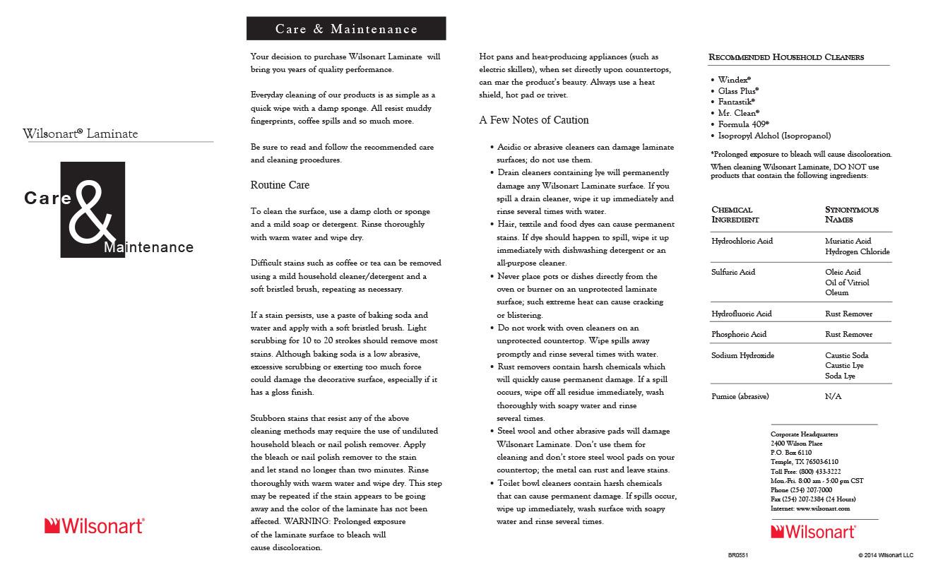 Wilsonart-Brand-Laminate-Care-and-Maintenance