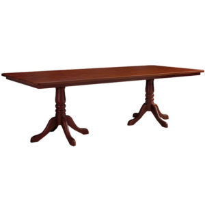 Double Wood Pedestal Table