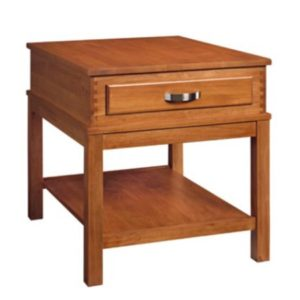 Wyndham: Rectangular End Table With Drawer & Shelf