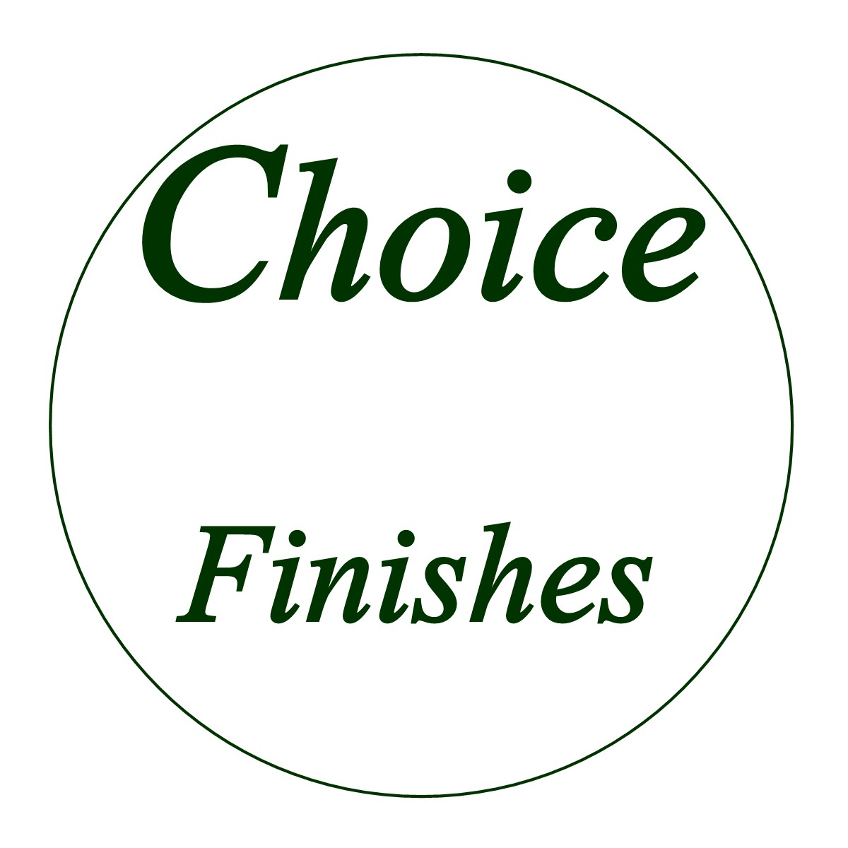 B-FINISH SELECTIONS