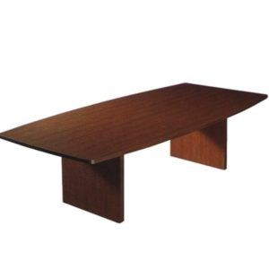 Conference Table W/ Boat Shape Top