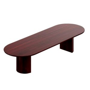 Conference Table W/ Racetrack Shape Top