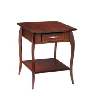 Harlo: Rectangular End Table With Drawer & Shelf