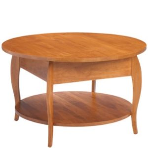 Harlo: Round Coffee Table With Shelf