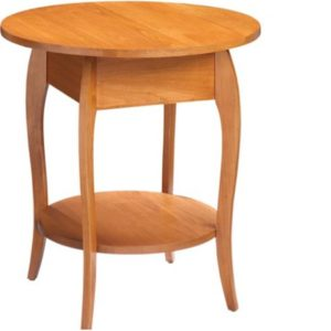 Harlo: Round End Table With Shelf