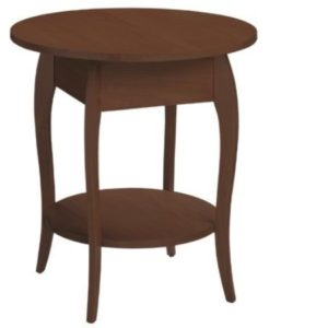 Harlo Round End Table – Darker Finish