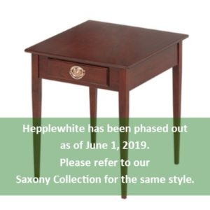 Hepplewhite: Rectangular End Table With Drawer