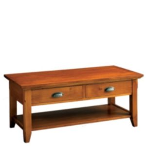 Livingston: Rectangular Coffee Table With Drawer & Shelf