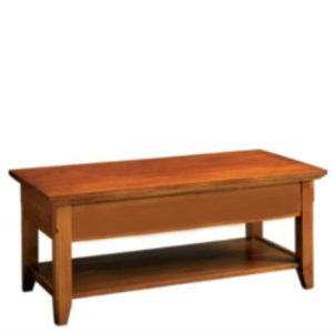 Livingston: Rectangular Coffee Table With Shelf