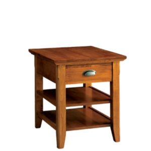 Livingston: Rectangular End Table With Drawer And Shelf