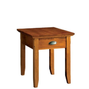 Livingston: Rectangular End Table With Drawer