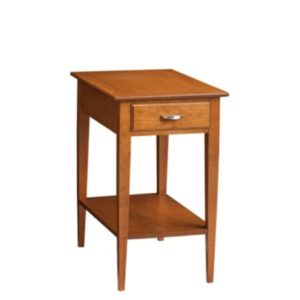 Saxony: Chairside Table With Drawer & Shelf
