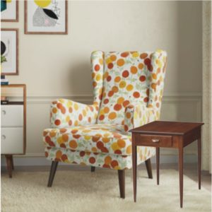 Saxony New Room Scene With Rectangular End Table
