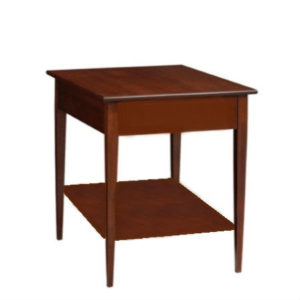 Saxony: Rectangular End Table With Shelf
