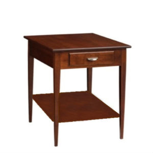 Saxony: Rectangular End Table With Drawer & Shelf
