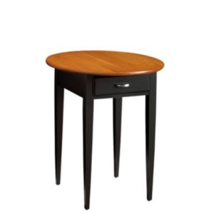Saxony: Round End Table With Drawer