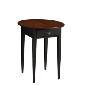 Saxony Round End Table – Alternate Finish – Drawer Only