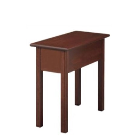 Shaker Chairside Table With No Drawer And No Shelf