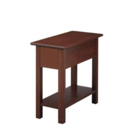 Shaker Chairside Table With Shelf No Drawer