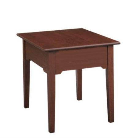 Shaker Rectangular End Table No Drawer No Shelf